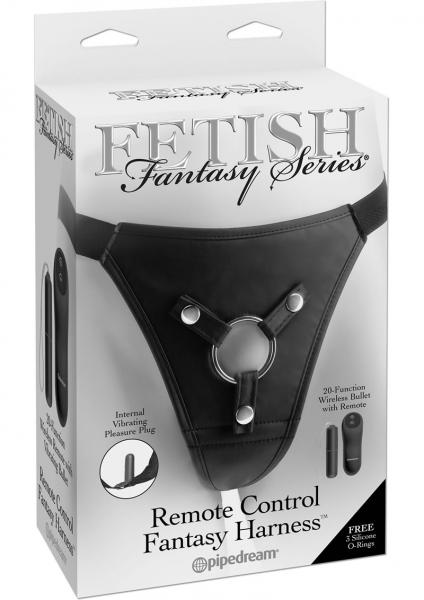 Fetish Fantasy Remote Control Fantasy Harness Adjustable Black