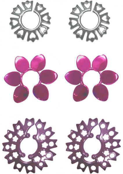 Fetish Fantasy Pretty Petals Nipple Pasties 3 Sets Per Pack