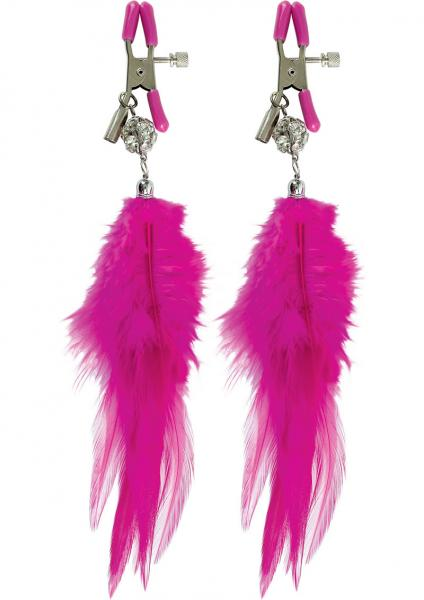 Fancy Feather Nipple Clamps