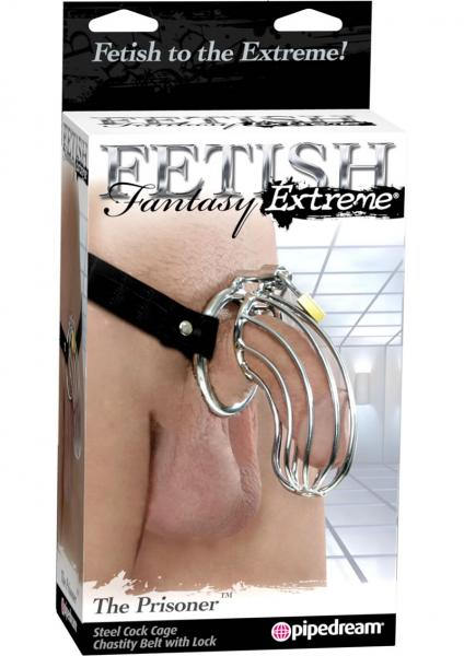 Extreme The Prisoner Steel Cock Cage Chastity Belt With Lock