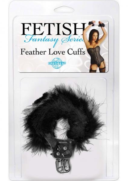 Fetish Fantasy Feather Love Cuffs Black