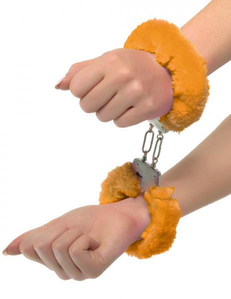 Neon Furry Cuffs Orange Handcuffs