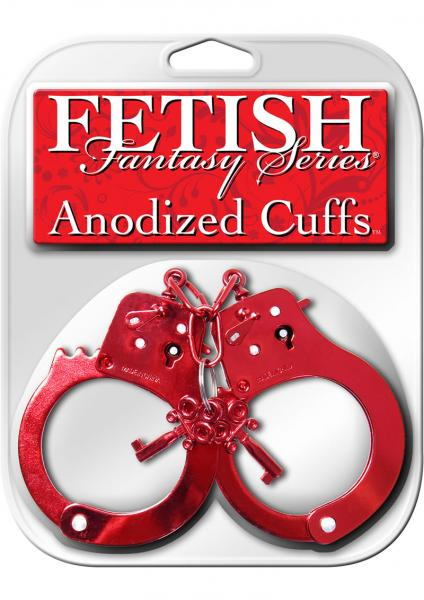 Fetish Fantasy Anodized Cuffs Red