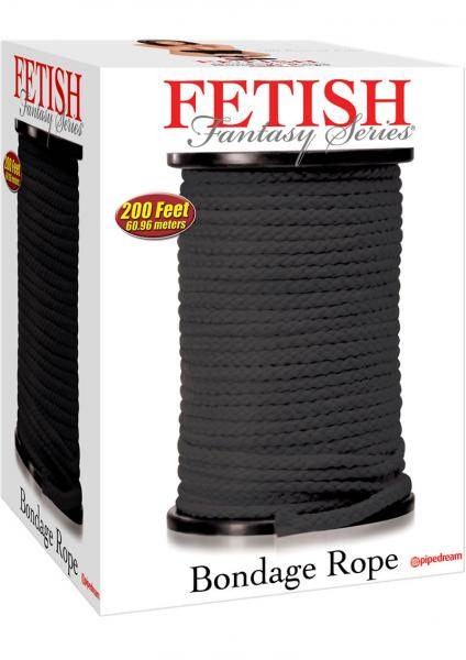 Fetish Fantasy Bondage Rope 200 Feet Black