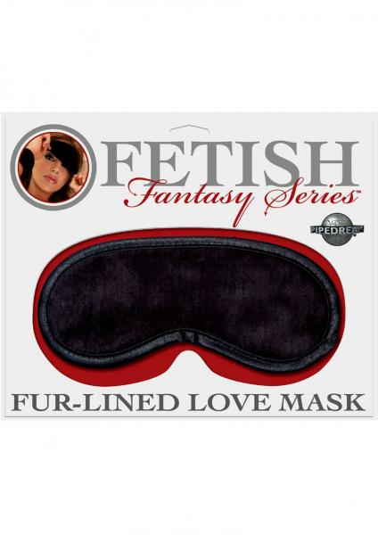 Fetish Fantasy Fur Lined Satin Love Mask Black