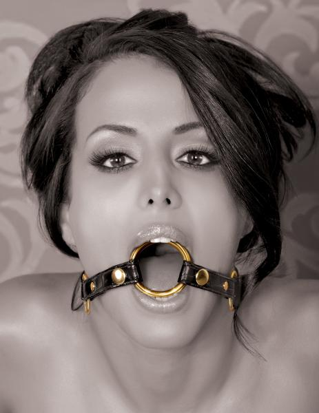 Fetish Fantasy Gold O Ring Gag Black/Gold