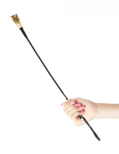 Fetish Fantasy Gold Riding Crop Black/Gold