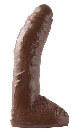 Basix Rubber Works Fat Boy Dong 10 Inch Brown