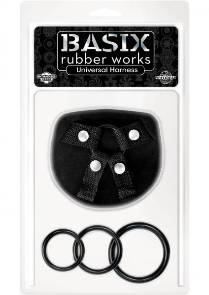 Basix Rubber Works Universal Harness Regular Size Black