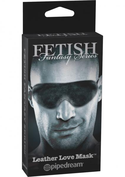 Fetish Fantasy Limited Edition Leather Love Mask Black