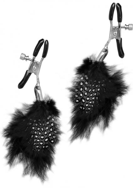 Fetish Fantasy Feather Nipple Clamps Black Limited Edition