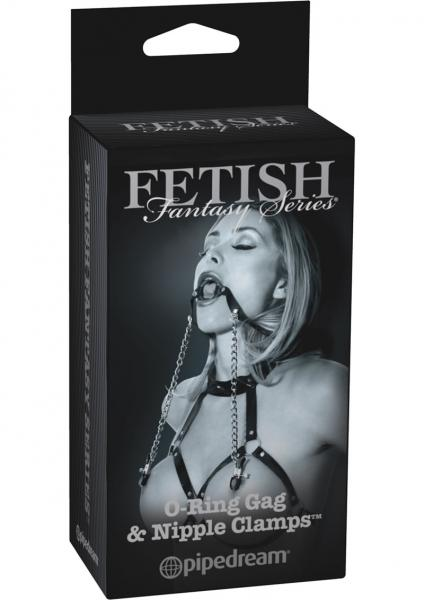 Fetish Fantasy O Ring Gag And Nipple Clamps Black Limited Edition
