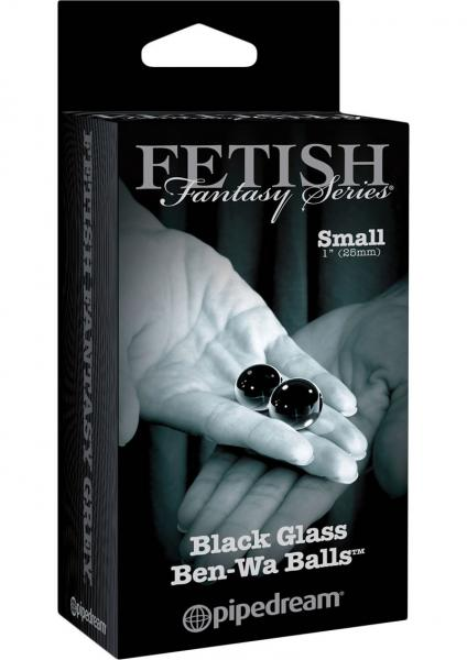 Fetish Fantasy Glass Ben-Wa Balls Black Small 1 Inch Diameter