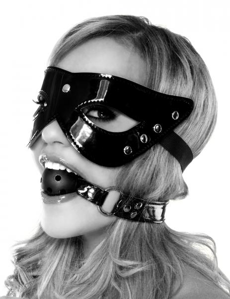 Masquerade Mask And Ball Gag Black