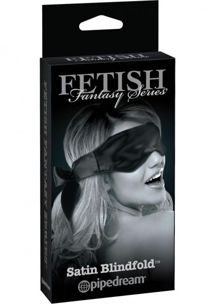 Black Satin Blindfold OS