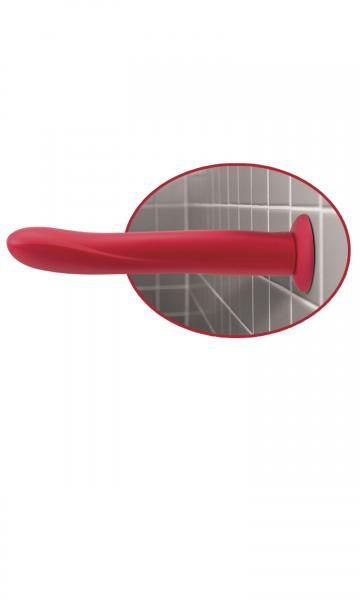 Vibrating 10 inches Silicone Dildo Red