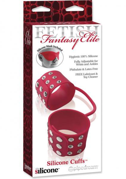 Fetish Fantasy Elite Silicone Cuffs Red