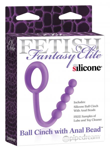 Fetish Fantasy Elite Ball Cinch With Anal Beads Purple