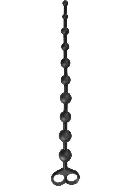 Anal Fantasy Boyfriend Beads Black 12 Inch