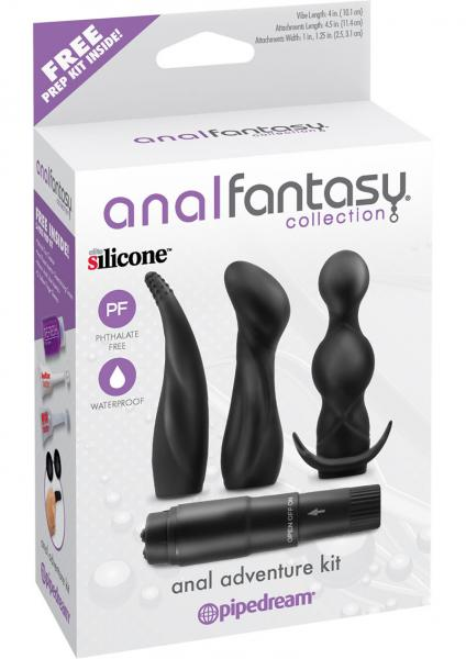 Anal Fantasy Silicone Adventure Kit Waterproof Black