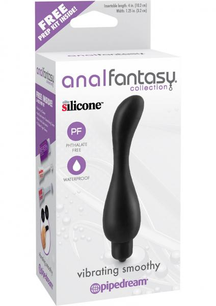 Anal Fantasy Silicone Vibrating Smoothy Black