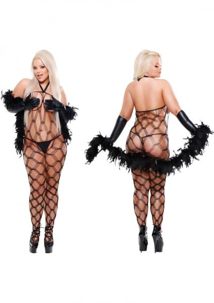 Fetish Fantasy Lingerie Dream Weaver With G String  Queen Black
