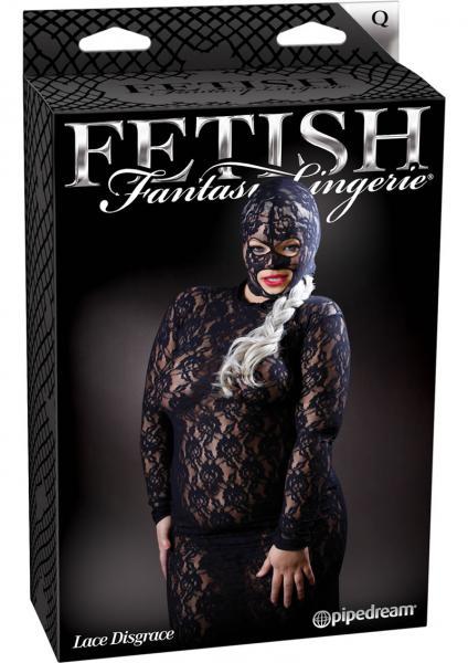 Fetish Fantasy Lingerie Lace Disgrace Queen Size Black