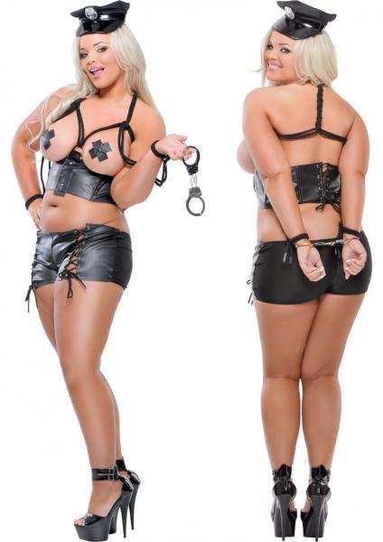 Fetish Fantasy Lingerie Bad Cop With Handcuffs Black Diva