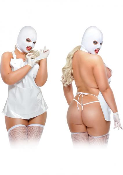 Fetish Fantasy Lingerie Femme Fatale Costume Diva White