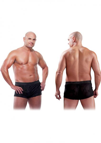 Male See Thru Boxer Black 2XL/3XL