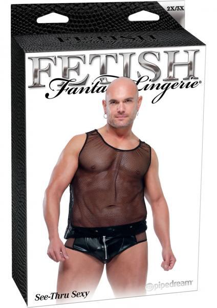 Fetish Fantasy Lingerie Male See Thru Sexy Black 2 X Large 3 X Large