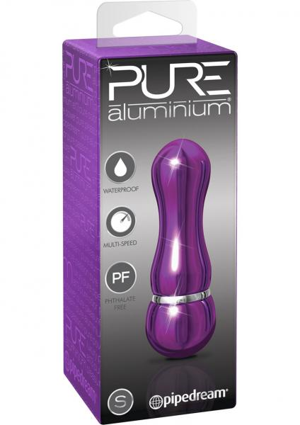 Pure Aluminum Small Vibrator Purple 3 Inches