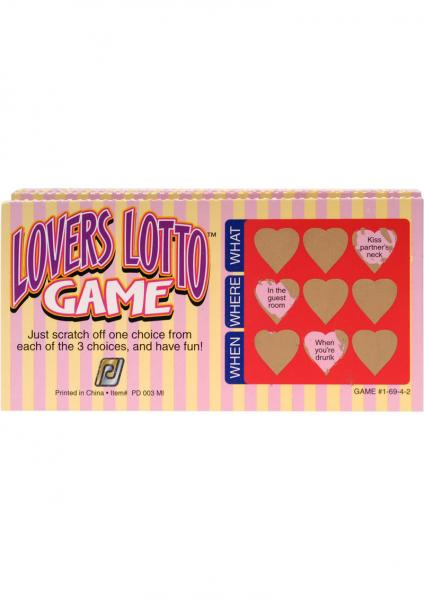 Lover's Lotto Scratch Off Game 12 Tickets