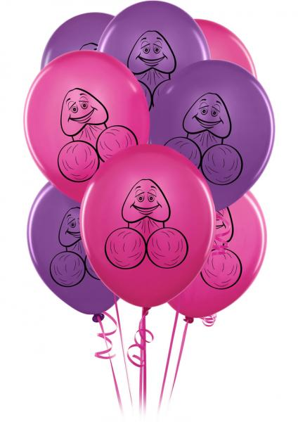 Bachelorette Party Favors Pecker Balloons 8 Pack