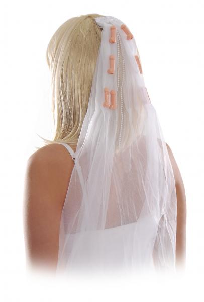 Bachelorette Party Favors Pecker Veil White