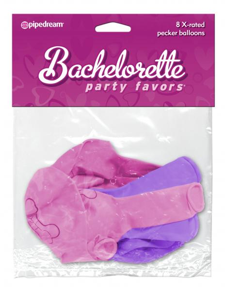 Bachelorette Party Favors X-Rated Pecker Balloons 8pcs
