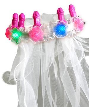 Bachelorette Party Favors Light Up Pecker Veil