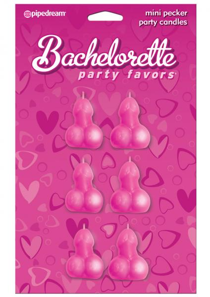 Bachelorette Party Favors Mini Pecker Party Candles - 6pc.