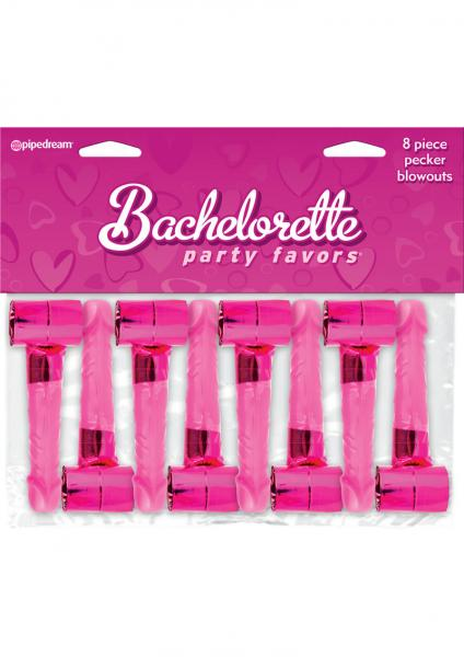 Bachelorette Party Favors Pecker Blowouts Pink 8 Each