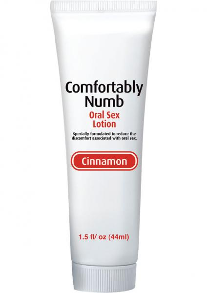 Comfortably Numb Oral Sex Lotion Cinnamon 1.5oz