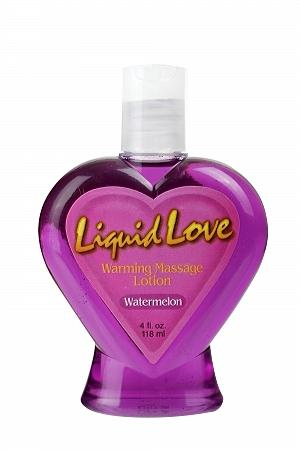 Liquid Love Warming Massage Lotion Watermelon 4oz