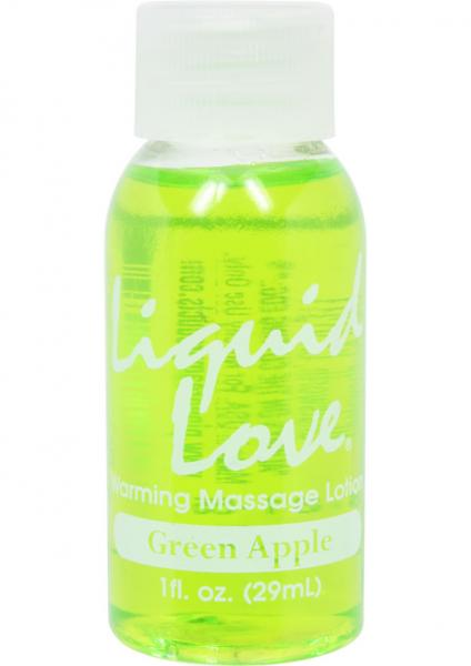 Liquid Love Warming Massage Lotion Green Apple 1oz