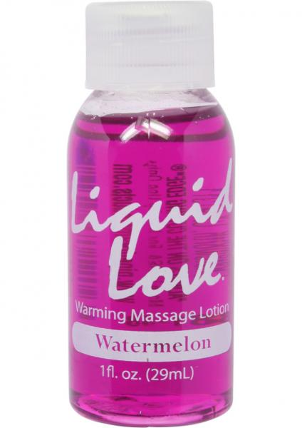 Liquid Love Warming Massage Lotion Watermelon 1oz