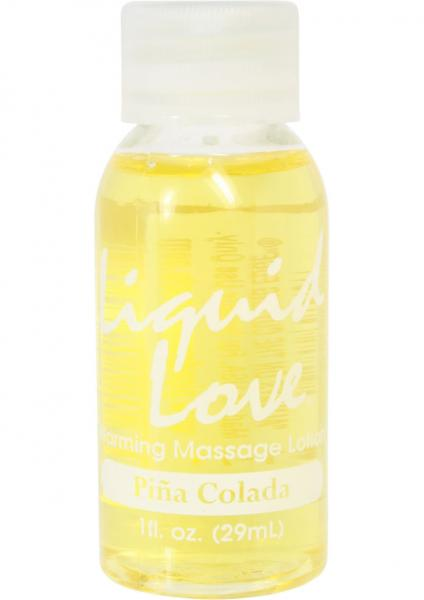 Liquid Love Warming Massage Lotion Pina Colada 1oz