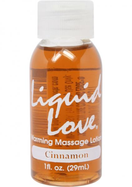 Liquid Love Warming Massage Lotion Cinnamon 1oz