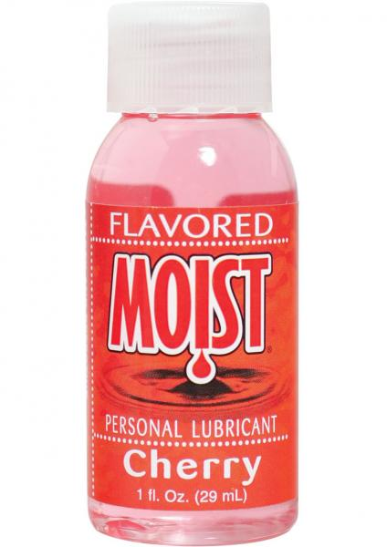Moist Flavored Personal Water Based Lubricant Cherry 1 Ounce