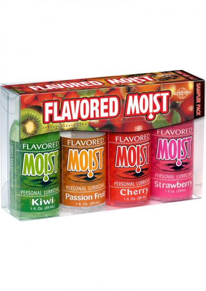 Flavored Moist Personal Lubricant 4 Pack Sampler 1oz