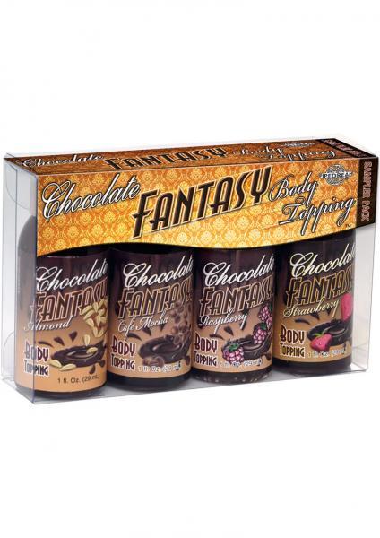 Chocolate Fantasy Body Topping Sampler 4 Pack 1oz Bottles