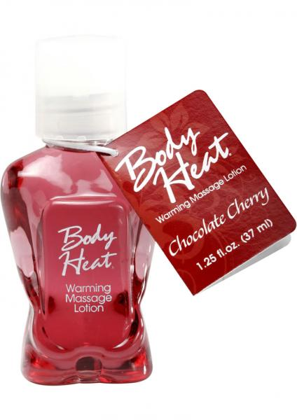 Body Heat Warming Massage Lotion Chocolate Cherry 1.25oz