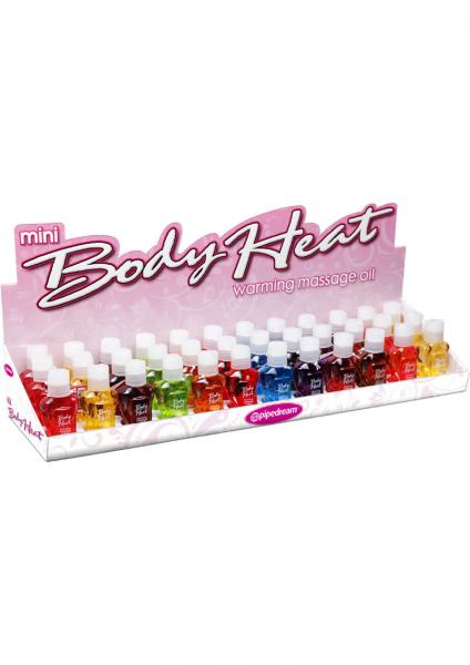 Mini Body Heat Warming Massage Lotion 36 Piece Display Assorted